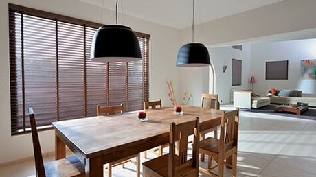 Fabric And Aluminium Venetian Blinds