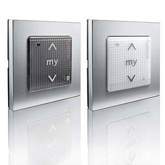somfy smoove wireless wall switch for motorised blinds electric blinds. Black Bedroom Furniture Sets. Home Design Ideas